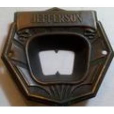 "Jefferson 2"" X 2 1/4"" across center name plate"